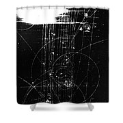 Mesons, Bubble Chamber Event Shower Curtain