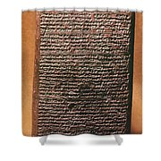 Mesopotamian Cuneiform Shower Curtain