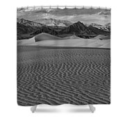 Mesquite Dunes Black And White Shower Curtain