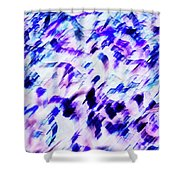 Mess In Blue Tones Shower Curtain