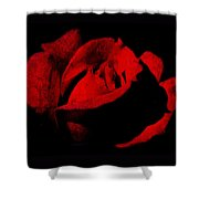 Seduction In Red Shower Curtain