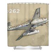 Messerschmitt Me-262 Shower Curtain