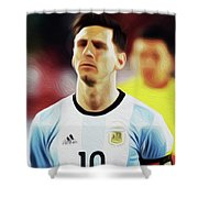 Messi #23 By Nixo Shower Curtain