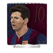 Messi-digital Oil Painting  Shower Curtain