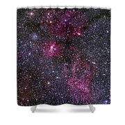 Messier 52 And The Bubble Nebula Shower Curtain