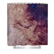 Messier 7 And Messier 6 Star Clusters Shower Curtain