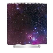 Messier 78 & Horsehead Nebula In Orion Shower Curtain