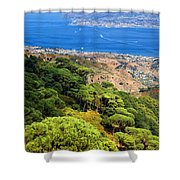 Messina Strait - Italy Shower Curtain