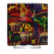 Messy Imagination  Shower Curtain