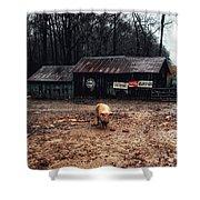 Messy Pig Farm Lot Shower Curtain