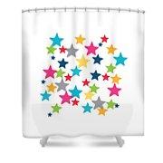 Messy Stars- Shirt Shower Curtain by Linda Woods