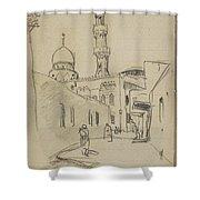 met uitzicht op de Al-Rifai moskee Shower Curtain