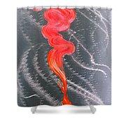 Metal Art Print On Aluminum - Koi Fish Art On Metal - Abstract Fine Art Print - Koi Fish Breaking Fr Shower Curtain