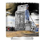 Metal Barn Shower Curtain