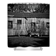 Metal Building On The Grounds At Fort Delaware Near Delaware City Shower Curtain