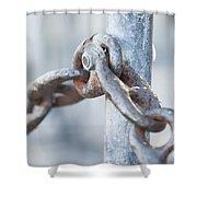Metal Chain Railing Fragment Shower Curtain