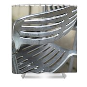 Metal Chair Shower Curtain