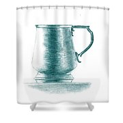 Metal Drinking Cup Shower Curtain