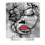 Metal Face Shower Curtain