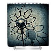 Metal Flower Shower Curtain