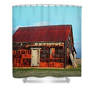 Metal House Shower Curtain