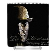 Metal Mask Silhouette Shower Curtain