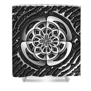 Metal Object Shower Curtain