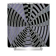 Metal Panel With Holes Abstract #3 Shower Curtain