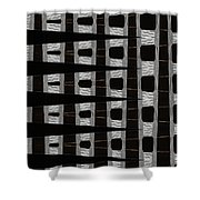 Metal Panel With Holes Abstract Shower Curtain