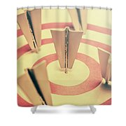 Metal Paper Planes In Target, Business Aims Shower Curtain