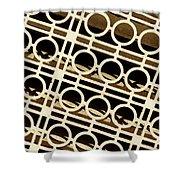 Metal Pattern Shower Curtain