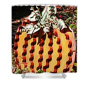 Metal Pumpkin Shower Curtain