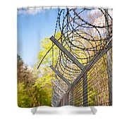 Metal Sharp Barbed Wire Shower Curtain