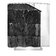 Metal Storage Shower Curtain