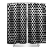 Metal Texture No.18 Bw Shower Curtain