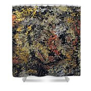 Metallic Abstraction Shower Curtain