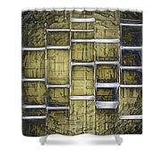 Metallic Amber Shower Curtain