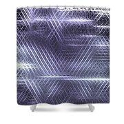 Metallic Cross Pattern  Shower Curtain