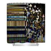 Metallic Drop Shower Curtain