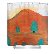 Metallic Landscape Shower Curtain