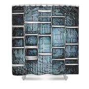 Metallic Topaz Dna Art Shower Curtain