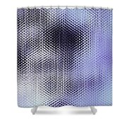 Metallic Weaving Pattern Shower Curtain
