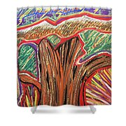 Metamorphosis Of The Great Tree Into Petrified Wood Shower Curtain