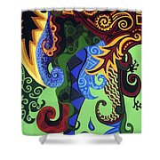 Metaphysical Fauna Shower Curtain