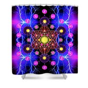 Metatron's Cube Shower Curtain