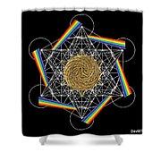 Metatron's Rainbow Healing Vortex Shower Curtain