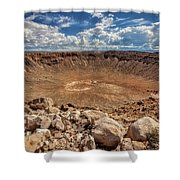 Meteor Crater Shower Curtain