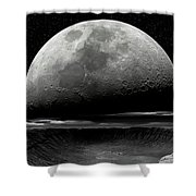 Meteor Crater Moon Shower Curtain