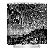 Meteor Shower, 1833 Shower Curtain by Granger