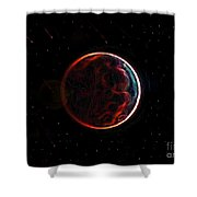 Meteor Shower Over Planet X Shower Curtain